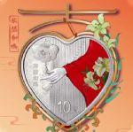2021年吉祥文化(琴瑟和鸣)30克圆形银质纪念币